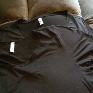 Lot of two solid black 3xl lularoe tops